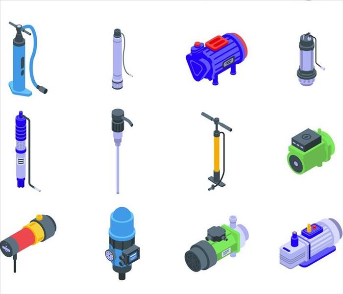 chart of submersible extraction pumps