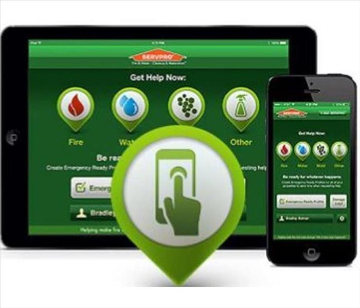 image of SERVPRO ERP Mobile App on a Smart Phone